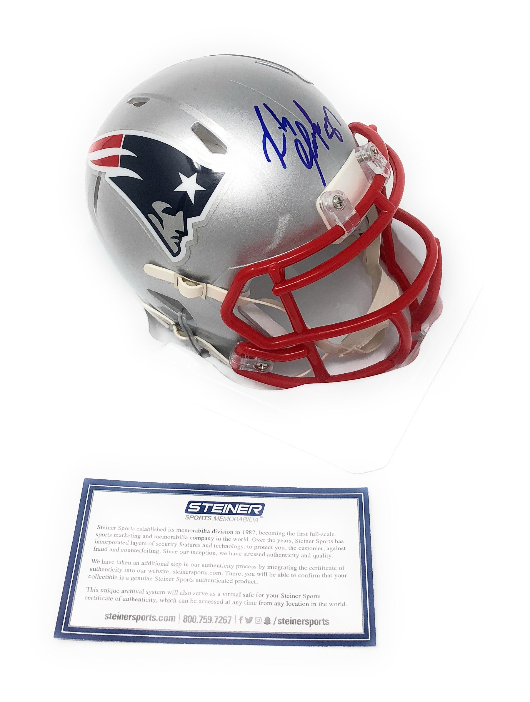 Rob Gronkowski New England Patriots Signed Autograph Speed Mini Helmet Steiner Sports Certified