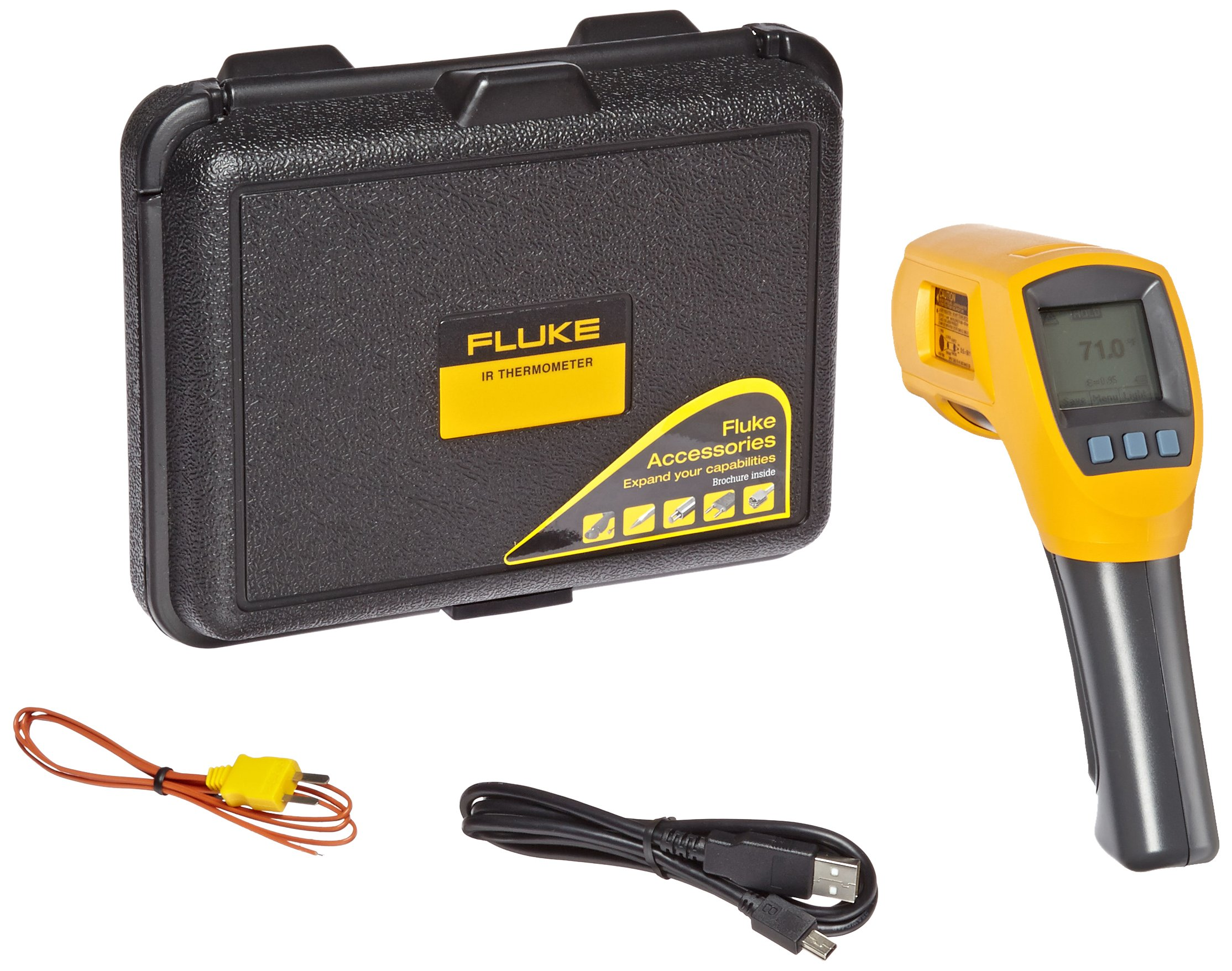 Fluke 568 Infrared Thermometer, 2AA/LR6 Battery, -40 to +1472 Degree F Range with a NIST-Traceable Calibration Certificate with Data by Fluke