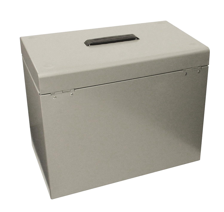 Cathedral Metal Box - Caja archivadora para fichas A4, gris: Amazon.es: Oficina y papelería