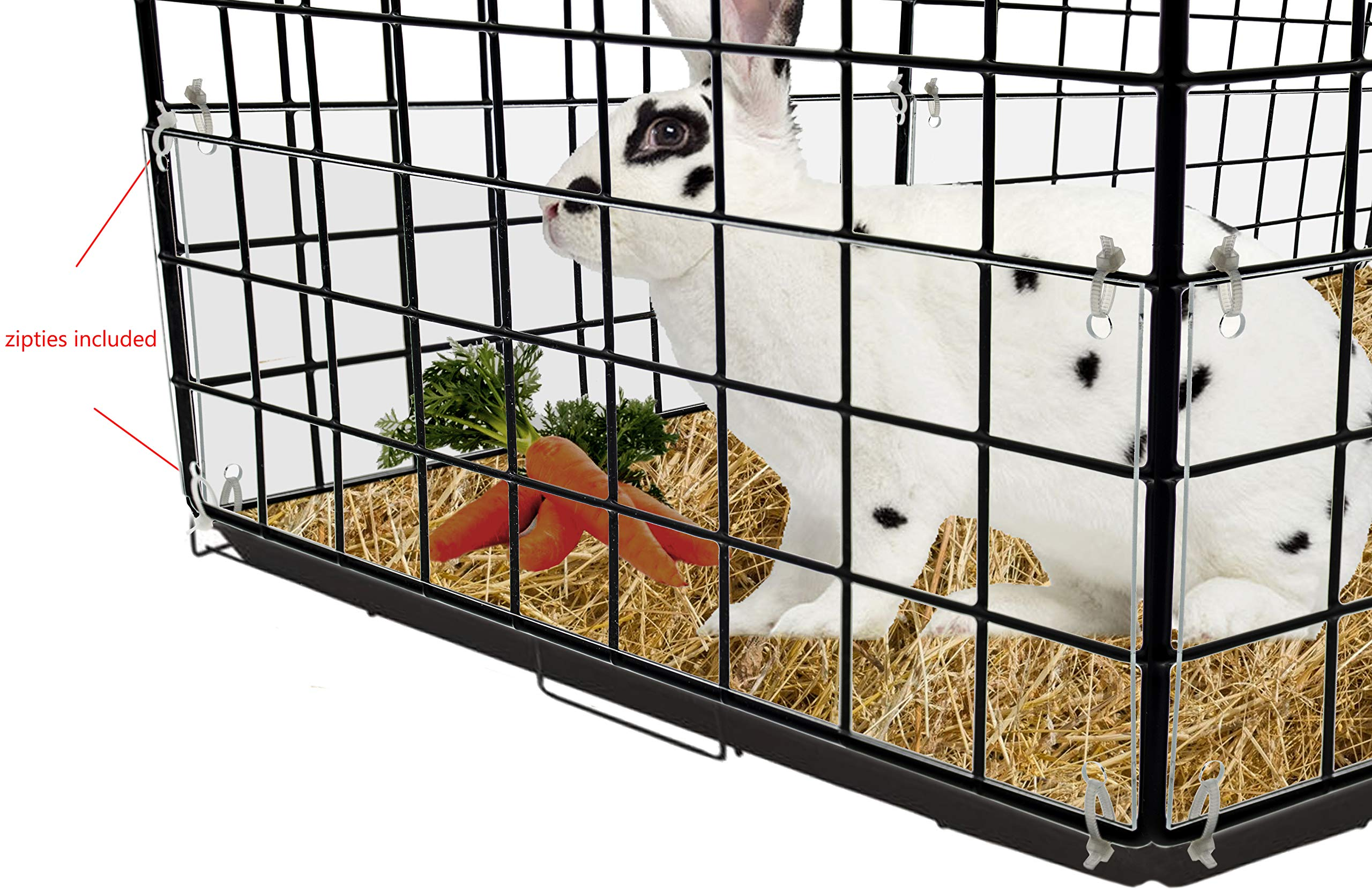 Marketing Holders Cage Edge Liner pet Rabbit & Guinea Pig cage Urine Guard Side Lining 2 Packs of 8 by Marketing Holders (Image #1)