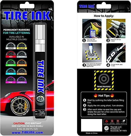 Free Delivery Simply Tyre Marker Pen White