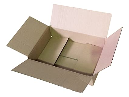 345 x 245 x 80 - 1000 plegable caja plano palé, paquetes DHL ...