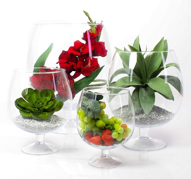 Verre g/éant /Ø 23cm Transparent 30cm Grand Verre /à Brandy Liam INNA-Glas Vase Boule sur Pied Verre XXL