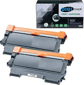 Amazon.com: digitoner por tonerplususa 2 Pack TN450 cartucho ...