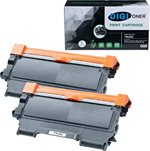 TonerPlusUSA Compatible Toner Cartridge Replacement for Brother TN450 (Black, 2-Pack)