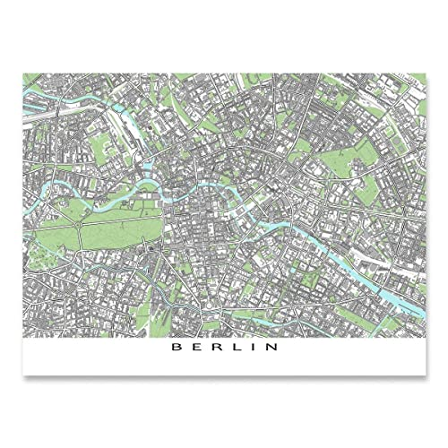 Berlin Map Of Germany.Amazon Com Berlin Map Print Germany Europe City Wall Art Poster