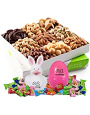 Easter Mixed Nuts Gift Basket, Gourmet Mix of Assorted Fresh Nuts Food Tray for Prime Easter Holiday Delivery, Mothers & Fathers Day, Birthday, Sympathy, Corporate Gift Box, By Nut Cravings