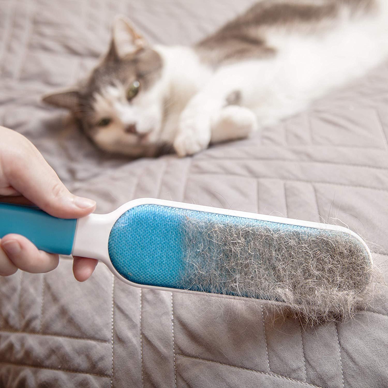 [marca francesa] cepillo anti pelo mágico - eficaz para quitar Ramasser Attraper Retirer las cerdas & peluches de los animales de compañía & sobre vos ...
