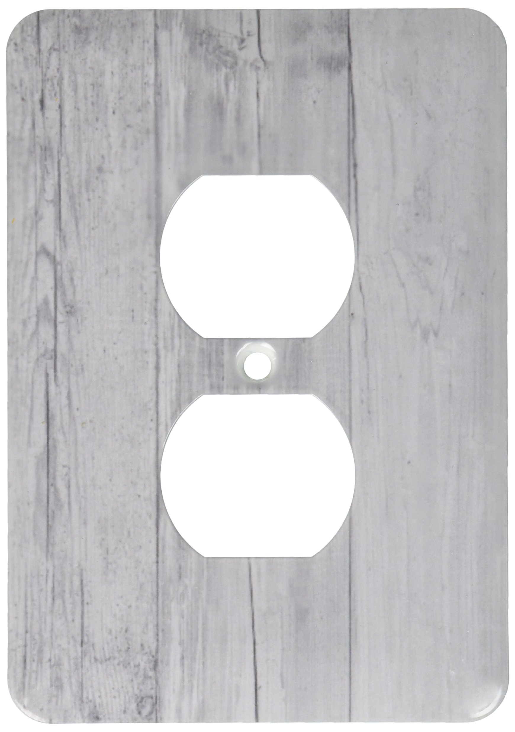 3dRose lsp_203980_6 Print of Country Gray Barn Wood 2 Plug Outlet Cover