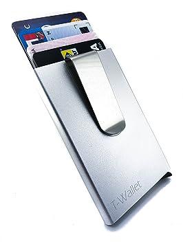Portefeuilles TWallet Portecarte En Aluminium Anti RFID Avec Clip - Porte carte aluminium