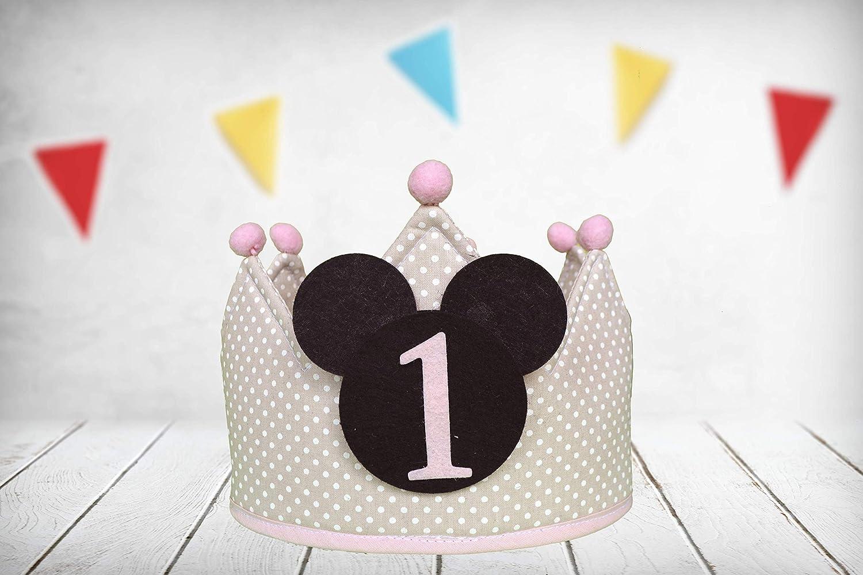 Corona cumpleaños Minnie Mouse (Incluye todos los números ...