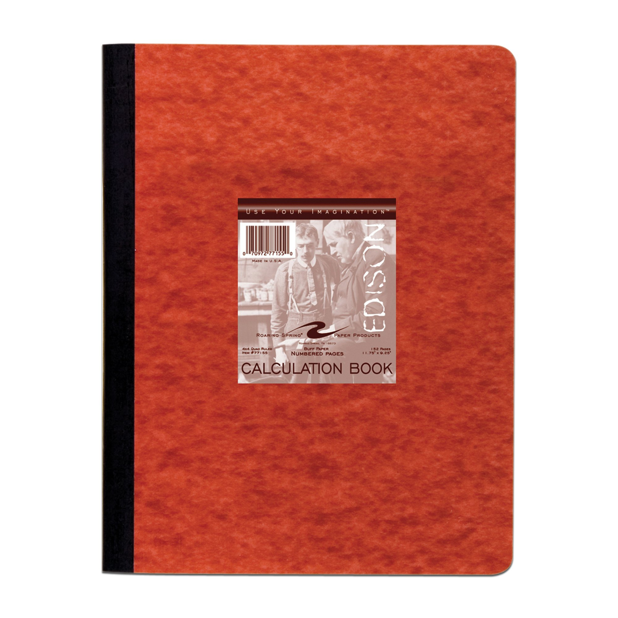 Roaring Spring Computation Lab Book, 11 3/4'' x 9 1/8'', 152 pages, Buff Paper