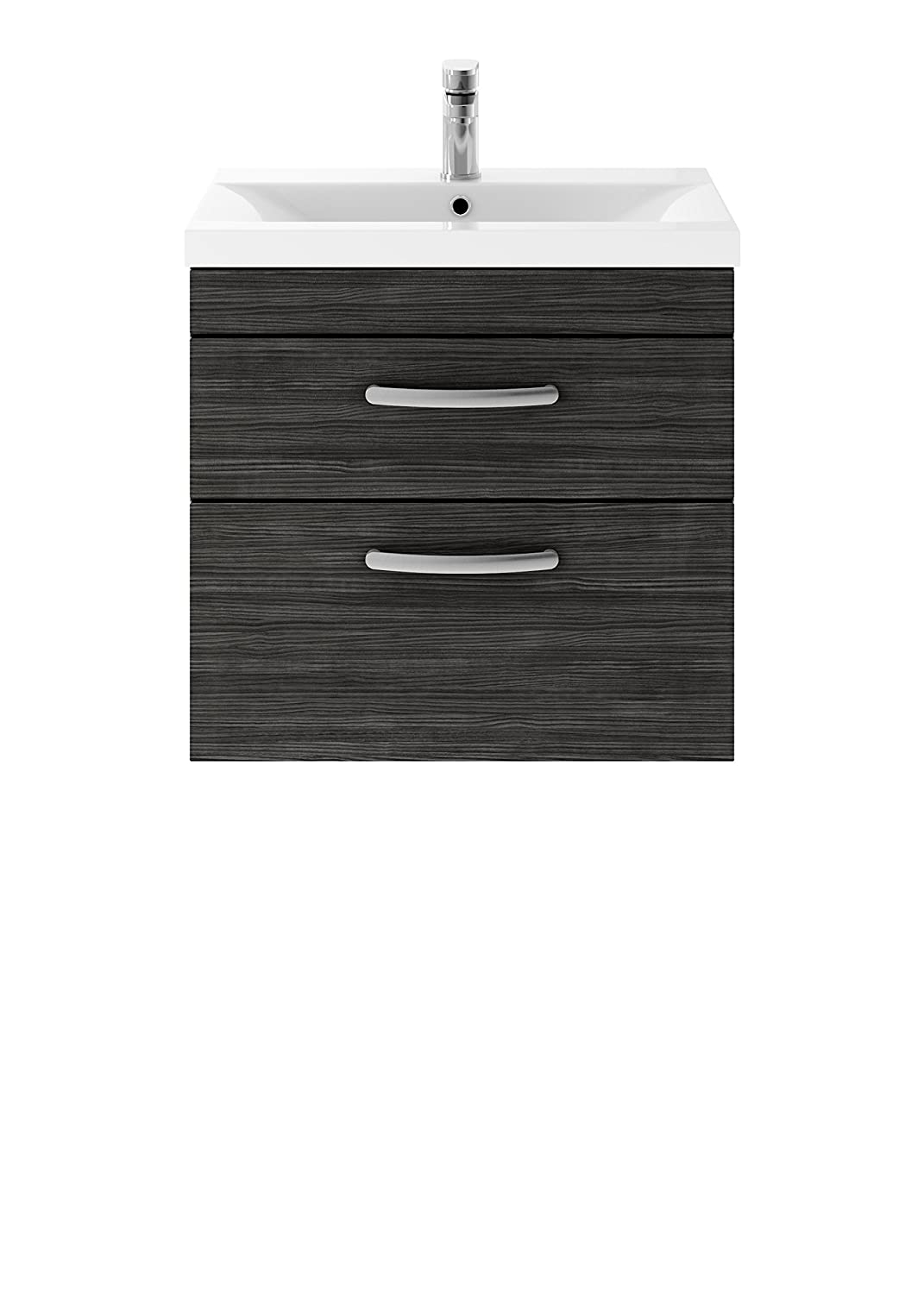 Premier Hudson Reed Athena Hacienda Black 610 x 578mm Wall Hung Vanity Unit Cabinet & Basin 1