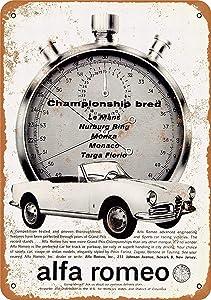"""Lplpol Metal Sign - Alfa Romeo Giulietta Spider - Vintage Wall Decor Art 12"""" x 18"""""""