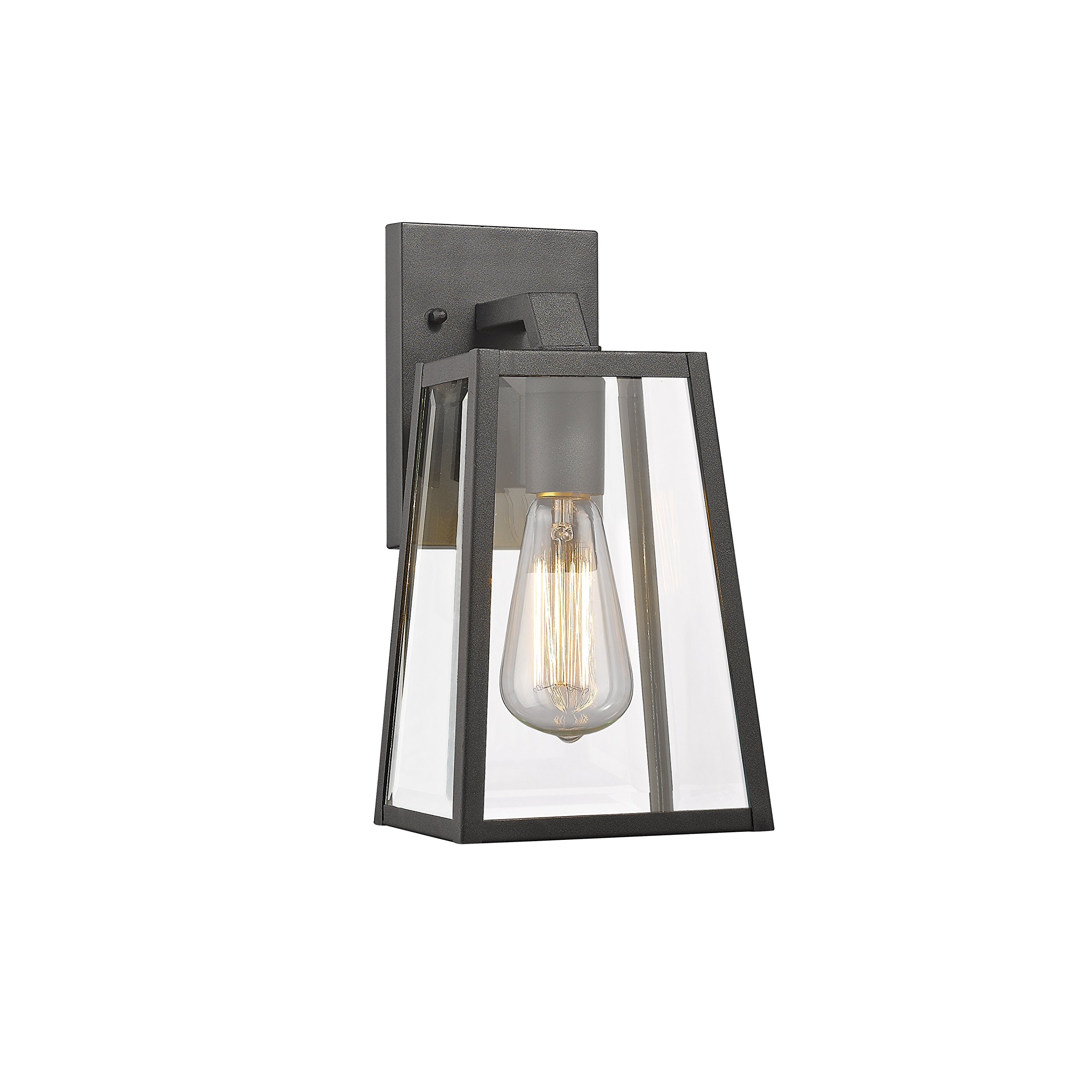 Chloe Lighting CH822034BK11-OD1 Transitional 1 Light Black Outdoor Wall Sconce 11'' Height