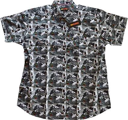 7f4ddaec0a6e KAMRO Übergrößen ! Kurzarm Hemd Halloween-Muster 4XL - 9XL  Amazon.de   Bekleidung