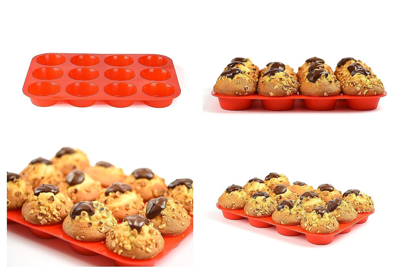 Premium silikon Muffinförmchen für 12 Muffins   BPA-frei und ...