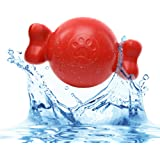 BITE: BallBone; Floating Pool Toys for Dogs – Durable Rubber Water Toys (Size: Large Dog Toys) (Color: Red)