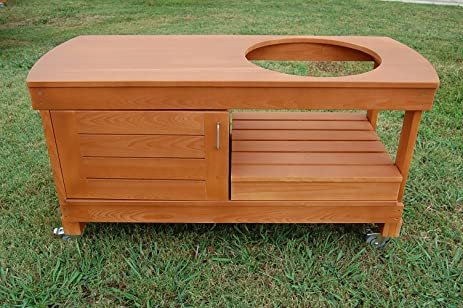 Big Green Egg Cabinet Table For Large BGE With FREE DROP LEAF SHELF