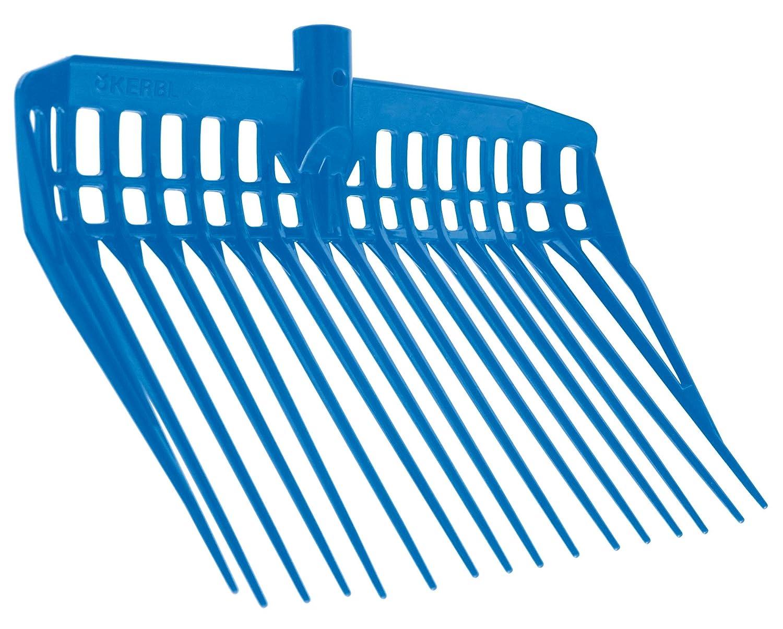 KERBL EcoFork Fourche à Copeaux sans Manche pour Élevage/Agriculture Urbaine Bleu 326053
