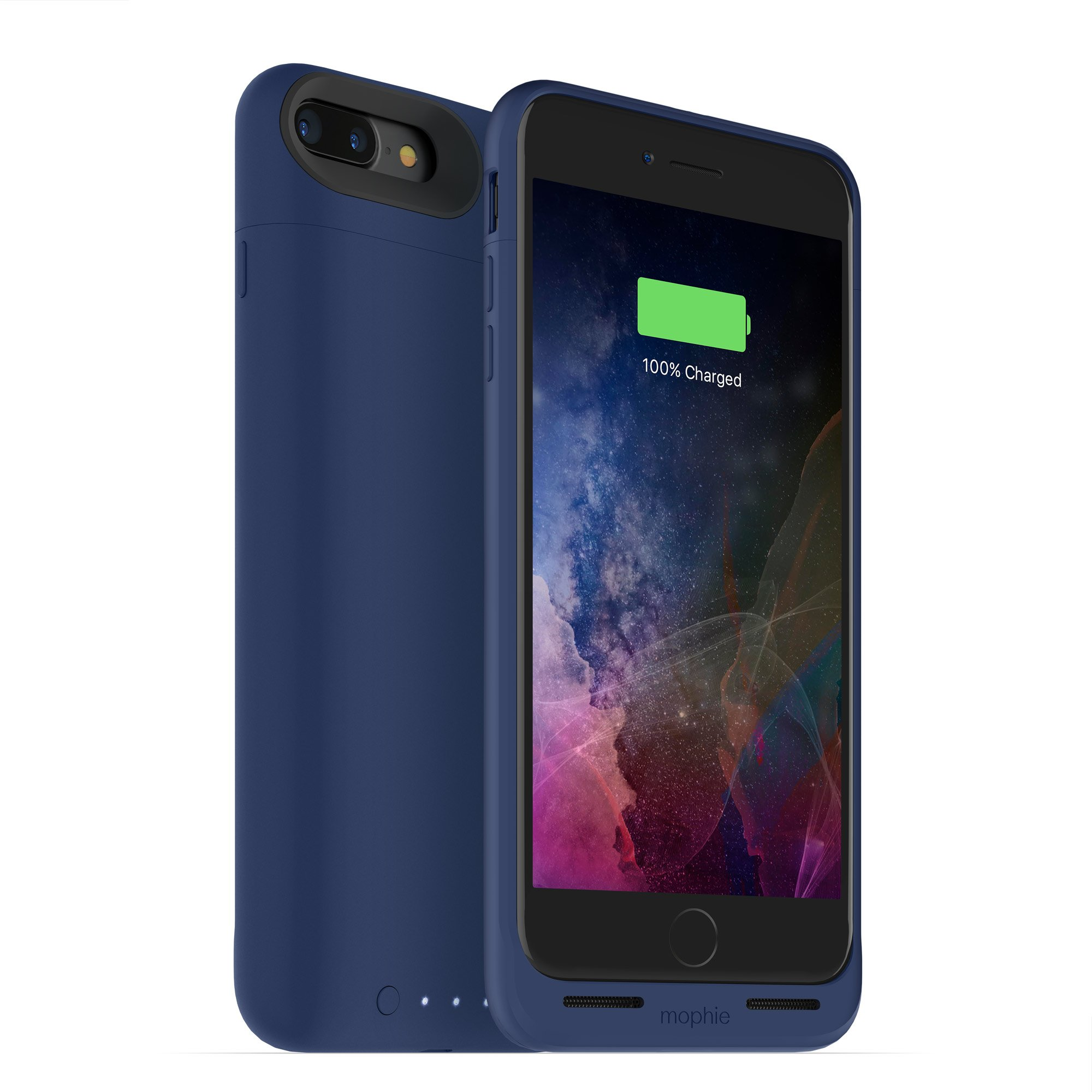 mophie juice pack wireless  - Charge Force Wireless Power - Wireless Charging Protective Battery Pack Case for Apple iPhone 8 Plus and iPhone 7 Plus - Blue by ZAGG