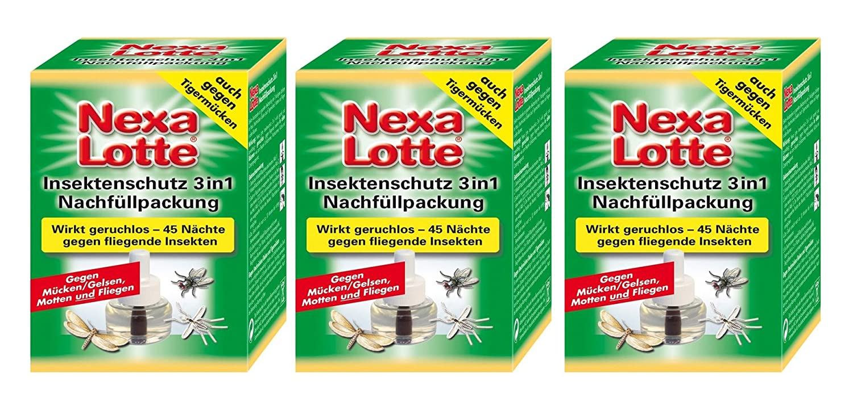 Sparset: 3 x SCOTTS Nexa Lotte Insekten Stecker 3in1, Nachfüllpackung Nachfüllpackung