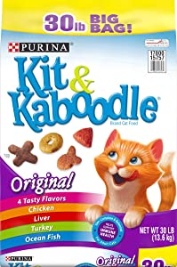 Purina Kit & Kaboodle, Dry Cat Food, Original, 30 Lb Bag