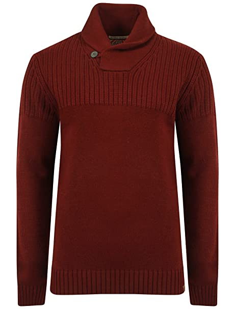 Mens Tokyo Laundry Perico Shawl Neck Long Sleeve Knitted Jumper Top Size S-XXL