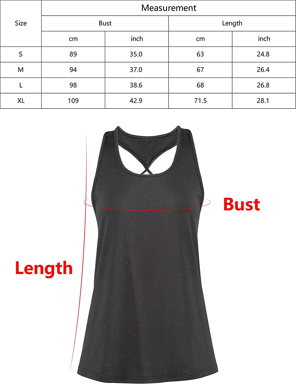 Yaluntalun Workout Tank Tops for Women Summer Sleeveless Casual Wear Athletic Running Racerback Yoga Activewear Shirt