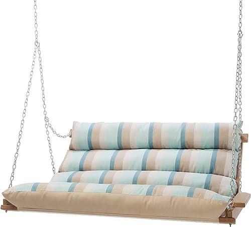 Hatteras Hammocks Deluxe Sunbrella Cushioned Double Swing – Gateway Mist