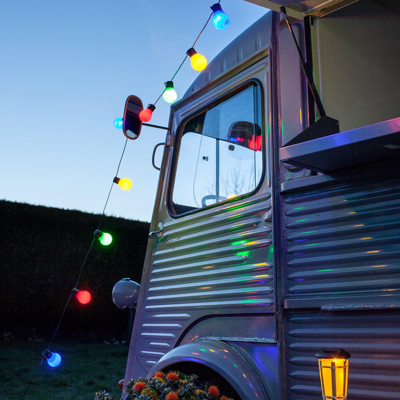 Catena di 30 luci LED multicolore a forma di lampadina di ...