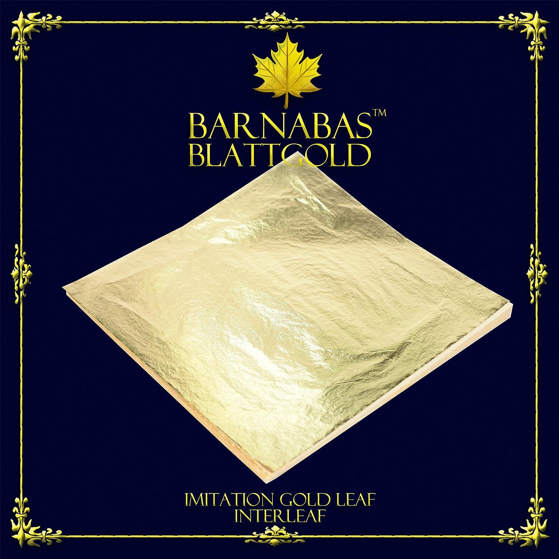Amazon.com: Barnabas blattgold – Imitación de oro Leaf 100 ...