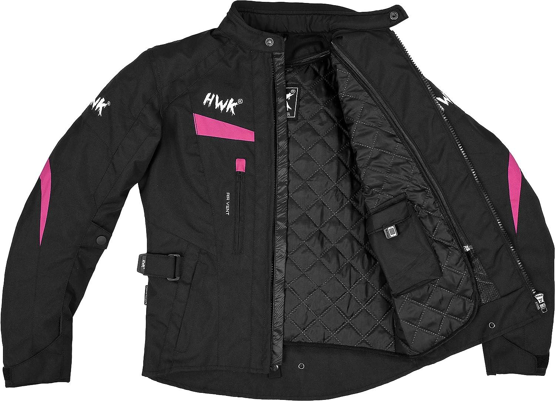 Womens Motorcycle Jacket For Women Stunt Adventure Waterproof Rain Jackets CE Armored Stella All-Black, S