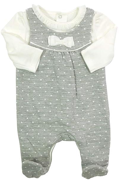 Mayoral - Pelele - para bebé niña Gris, Blanco 50 cm: Amazon.es: Ropa y accesorios