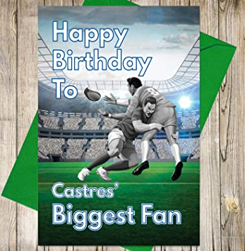 Carte Danniversaire Rugby Castres Biggest Fan Amazonfr