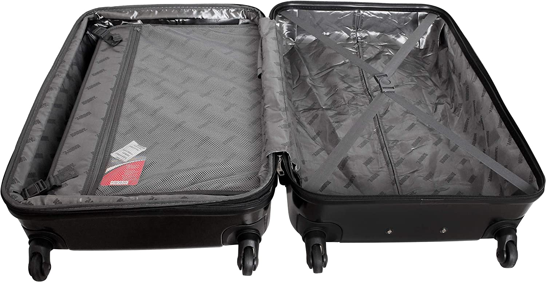 XXL Hartschalen Koffer Trolley Reise TSA Schloss 100 Liter Schwarz 822