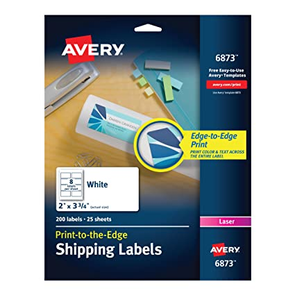 Amazon Avery Print To The Edge Labels For Laser Printers 2 X