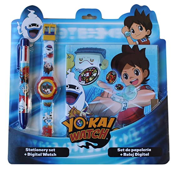 Reloj niño yo kai Watch Nathan digitale bolígrafo y bloc Note regalo