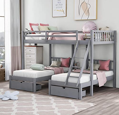 Full Over Twin and Twin Bunk Bed