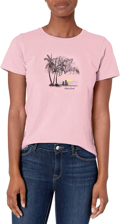 Life is Good Women's Crusher T-Shirt Seas The Day