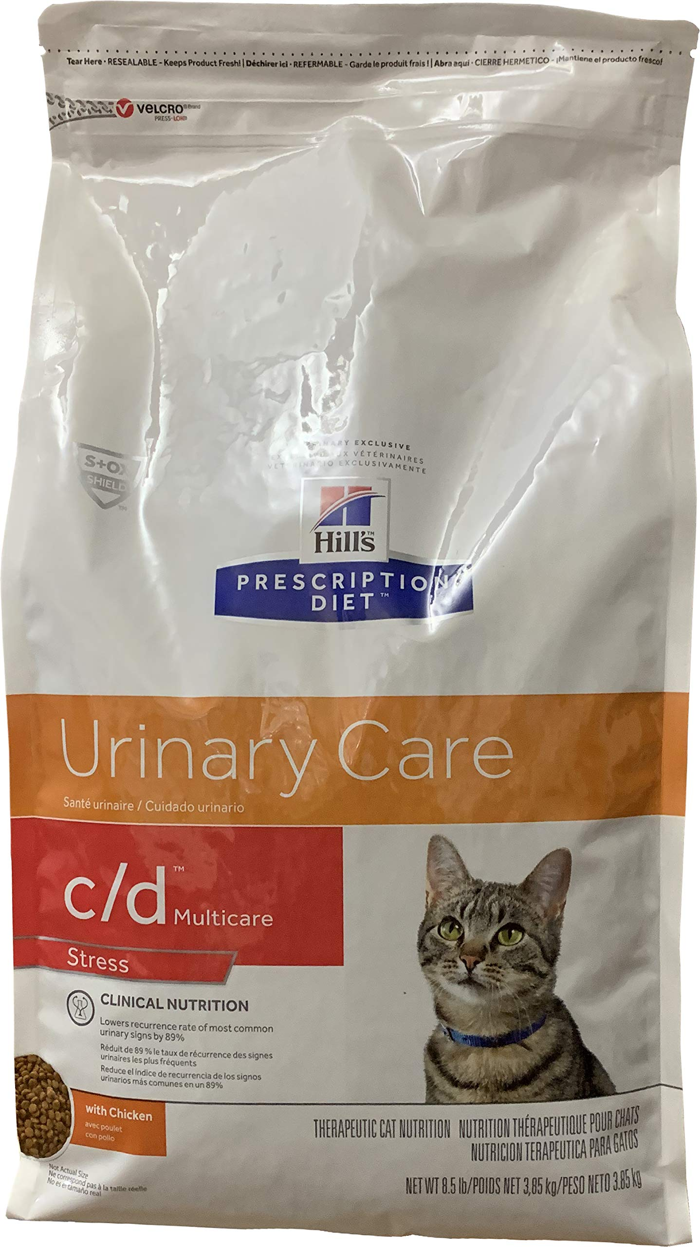 HILL'S PRESCRIPTION DIET c/d Multicare Stress Urinary Care with Chicken Dry cat Food, 8.5 lb Bag by HILL'S PRESCRIPTION DIET