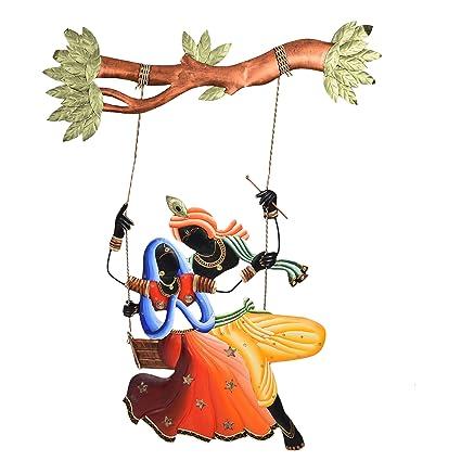 Buy Radha Krishna on Swing Decorative Wall Hanging by Bharat