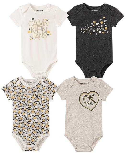 Amazon.com: Calvin Klein - Conjunto de monos para bebé (4 ...