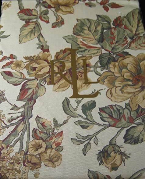 Ralph Lauren Grace Floral Tablecloths Gold   100% Cotton  Assorted Sizes   Oblong