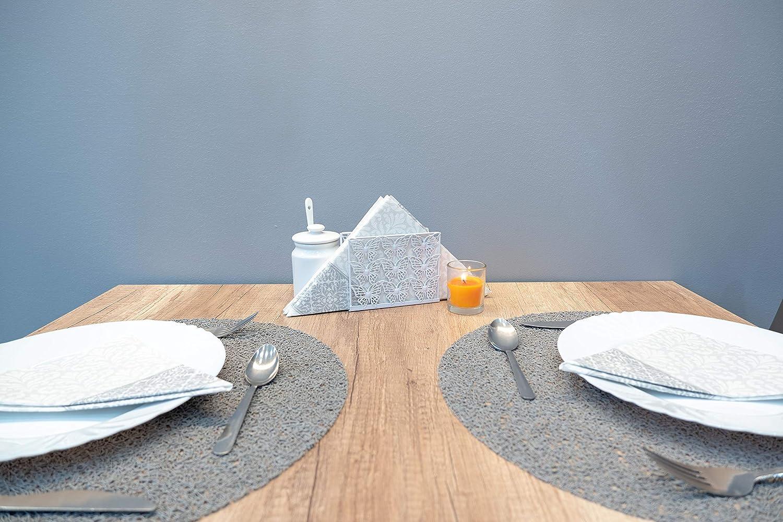 White Color Metal Butterfly Napkin Holder for Kitchen Tissue Holder Table D/écor