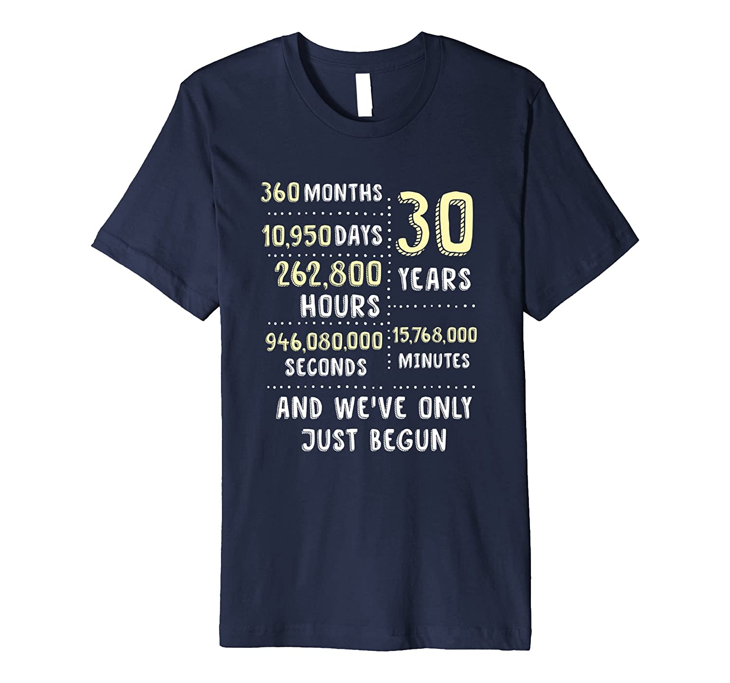 30 Years Anniversary T-Shirt  Cute Gift for Her or Him-PL