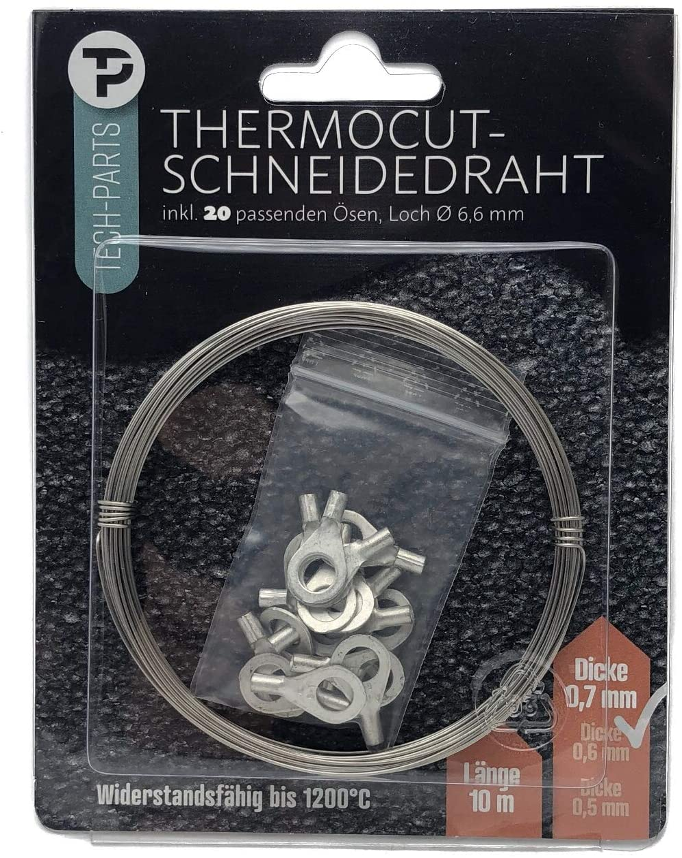 Styropor Schneidedraht Styroporschneider Heizdraht mit Öse 0,4mm