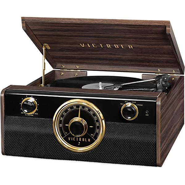 Amazon.com: Victrola Entertainment Stand with Record Holder ...