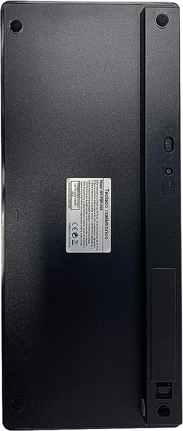 PRITECH - Teclado Español Ultra-Delgado Inalámbrico Bluetooth para iOS (iPhone, iPad) y MacOs (Macbook, Mac Mini, iMac, Mac Pro) (Black)