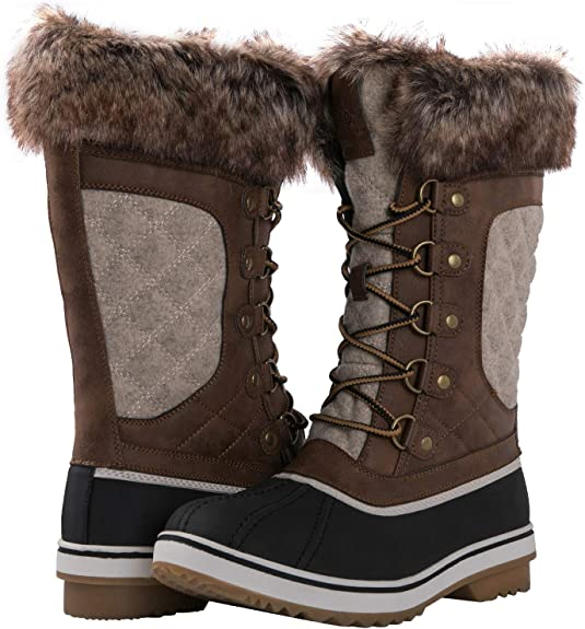Kingshow Women's Waterproof Winter Boots